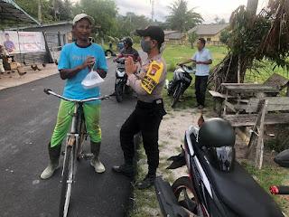 Sinergitas TNI-Polri, Polsek Dabo Singkep Kembali buka Dapur Umum