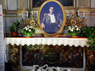 Frassati's tomb in Turin Cathedral, where his remains were transferred in 1981, prior to his beatification