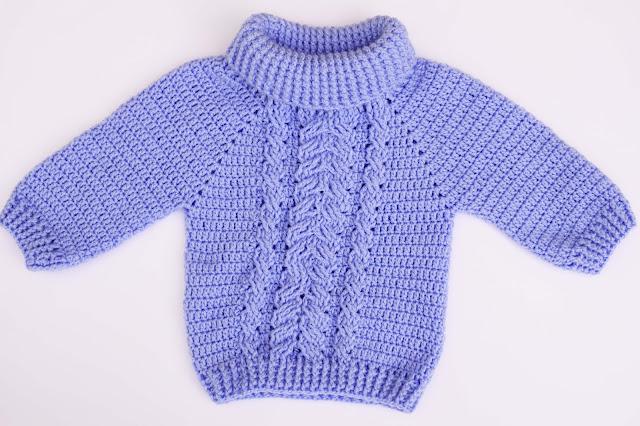 5-Crochet Imagen Jersey de espigas y ochos a crochet y ganchillo por Majovel Crochet