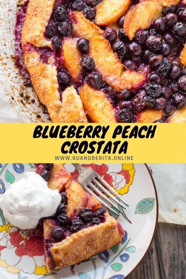 Blueberry Peach Crostata #dessert #summer #fruits #blueberry #peach #crostata