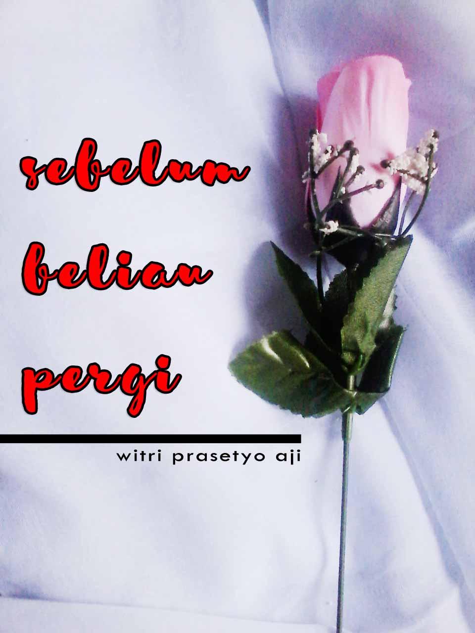 SEBELUM BELIAU PERGI