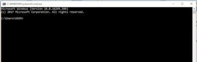 Cara Membuat Database dengan CMD windows