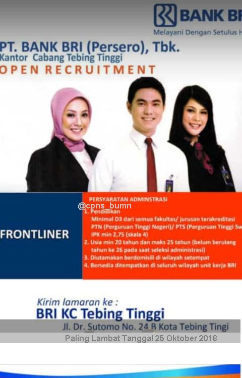 Kesempatan Berkarir di Bank Rakyat Indonesia (Persero)