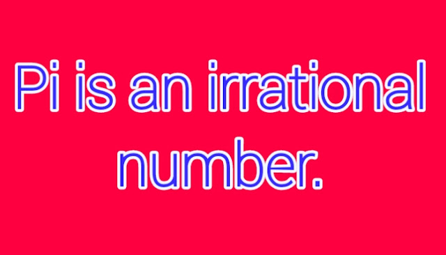 Pi in the form of irrational number
