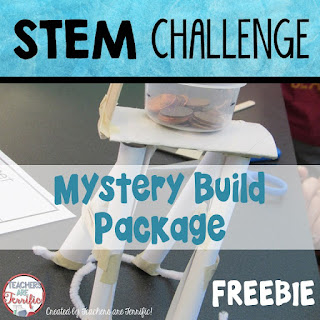 STEM Challenge Mystery Build: Each team builds something different. They must choose the materials needed for the task and stay within a budget!  FREEBIE!
