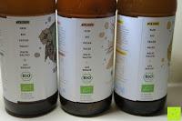 Eigenschaften: fariment - 3 Liter Original Bio Kombucha Tee Getränk natürlich fermentiert und nicht pasteurisiert / Rohkost (3er Mix)