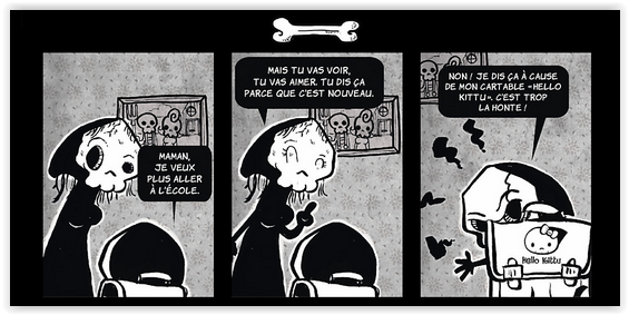 Strip extrait de La Petite Mort de Davy Mourier
