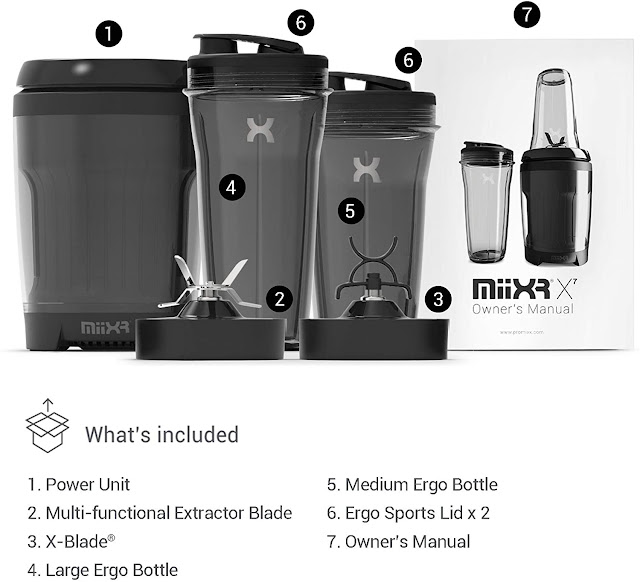 Whats in the box X7 Blender