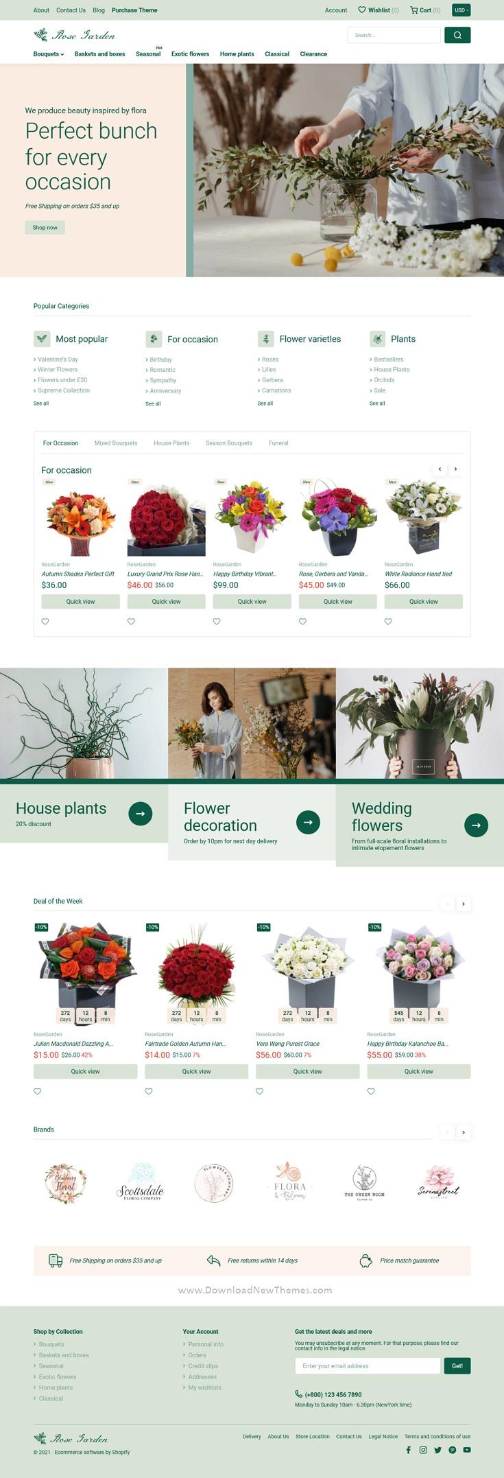 Premium Shopify Flower Shop Theme