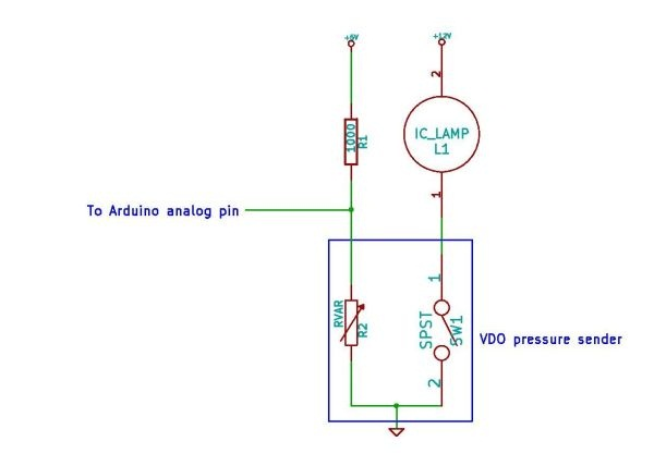 Controlling VDO engine pressure sensor with arduino | The Secret