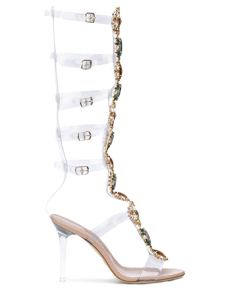 Manolo Blahnik x Rihanna Poison Ivy Gladiator Sandals