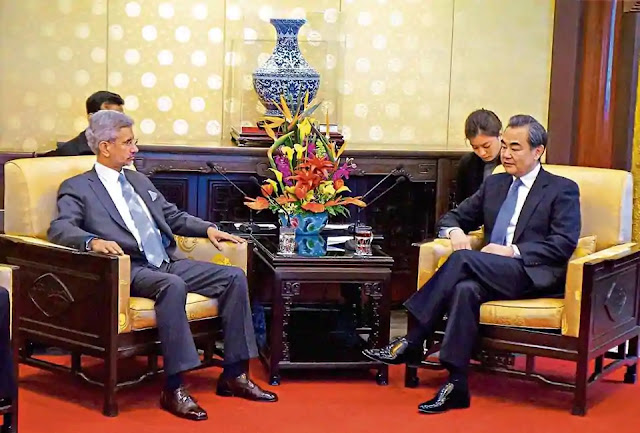 S Jaishankar And His chinese Counterpart