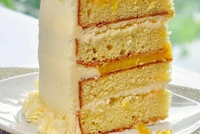 Delicious lemon cake