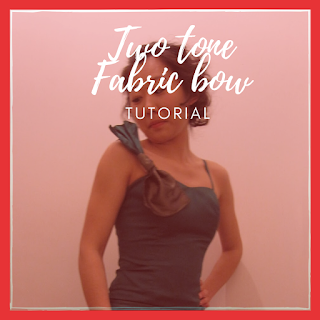 two tone fabric bow tutorial