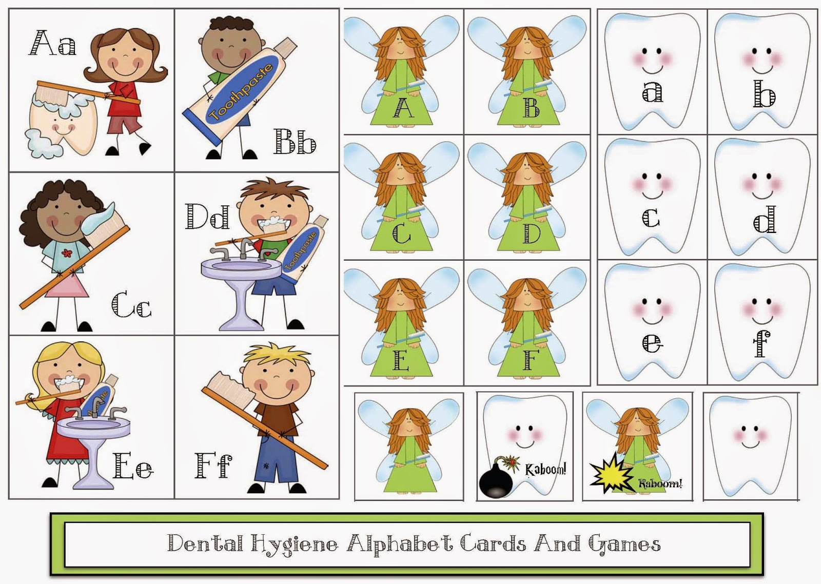 Classroom Freebies Dental Hygiene Abc Cards
