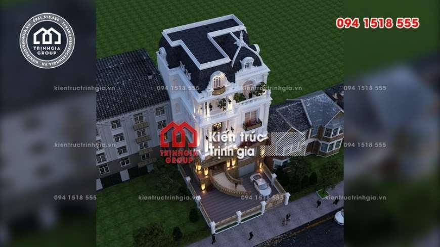 Mẫu biệt thự 4 tầng tân cổ điển đẹp sang lộng lẫy ở Hà Nội - Mã số BT2820 - Ảnh 1