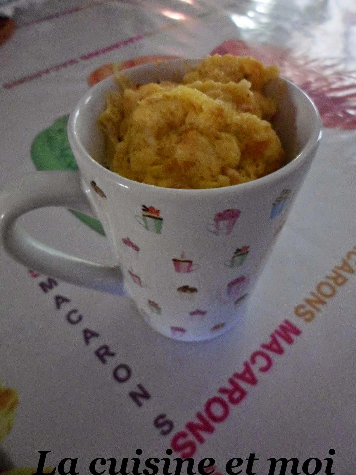 Recette Mug Cake Gruyere