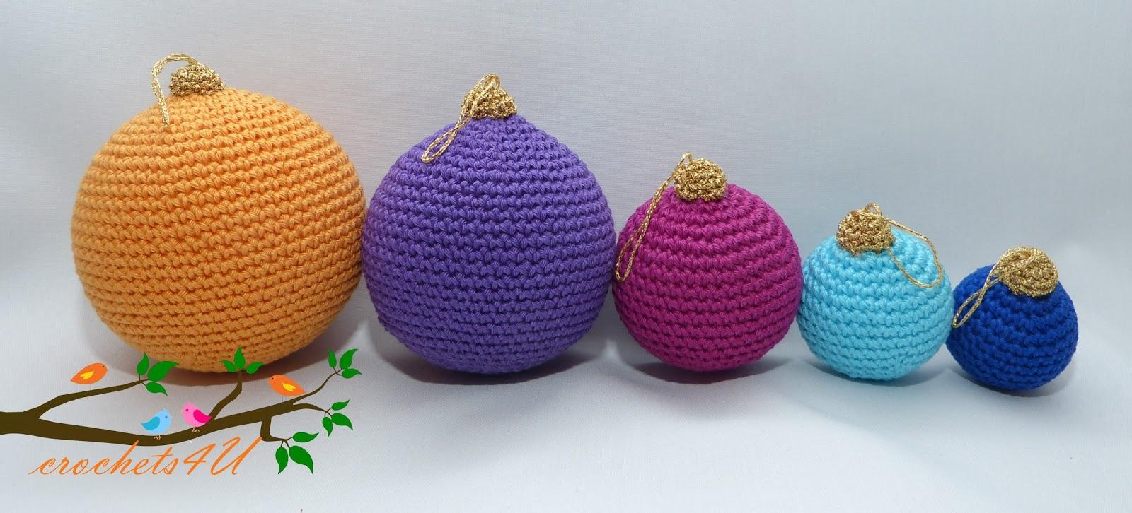 Crochets4u Gratis Patroon Kerstballen Haken