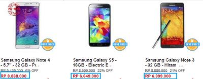 Daftar Harga HP Samsung Terbaru Oktober 2014