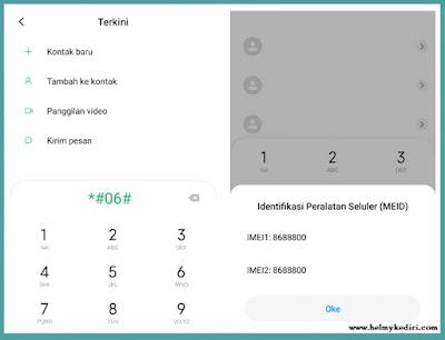 Cek IMEI HP Xiaomi Dengan Kode