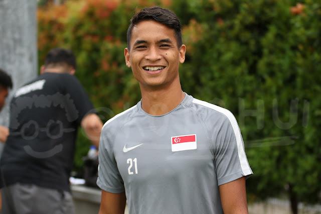 A file picture of Singapore football defender Safuwan Baharudin