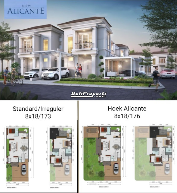 layout rumah new alicante