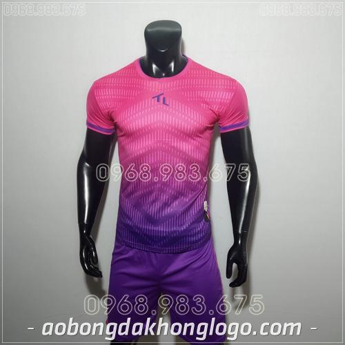 Áo bóng đá ko logo Rius màu hồng
