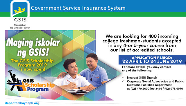 GSIS opens scholarship for incoming college freshmen