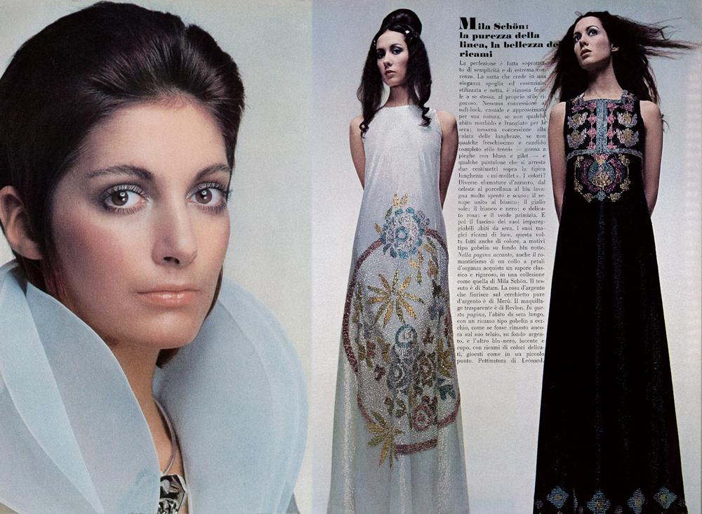 Mila Schon in Vogue Italia March 1970