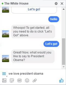 message Barack Obama