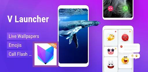 تنزيل لانشر V Launcher خلفيات متحركة، تصاميم ورموزتعبيرية وصور لنظام الاندرويد