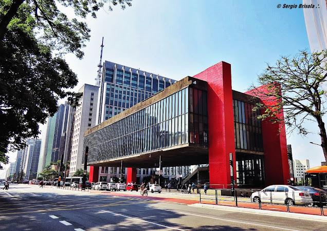 Fachada do MASP - Museu de Arte de São Paulo - Avenida Paulista