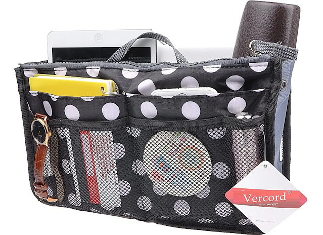 1- Vercord Purse Organizer Insert for Handbags Bag