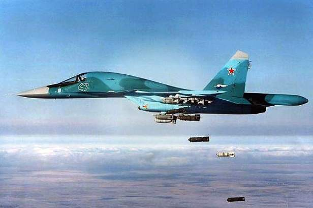 Foto Jet tempur rusia serang militer AS