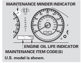 The Maintenance Minder Indicator Will Also Come On, And The Maintenance  Item Code(s) For Other Scheduled Maintenance Items Needing Service Will Be  Displayed ...