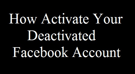 facebook, fb, status, activate, deactivate, account