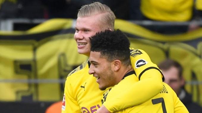 Erling Haaland and Jadon Sancho make Bundesliga history