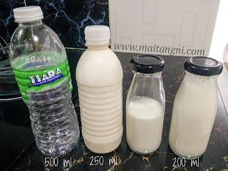 Perbezaan saiz botol kefir