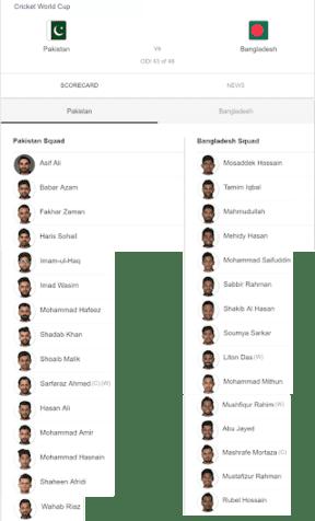 Pakistan VS Bangladesh World Cup 2019 (Live Match Pak VS Ban Update)