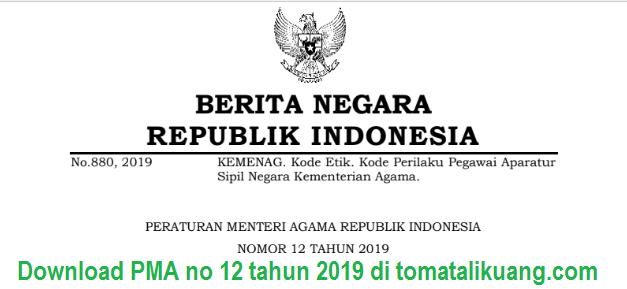 pma nomor 12 tahun 2019; tomatalikuang.com