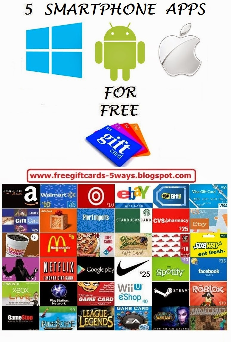 free gift cards app code