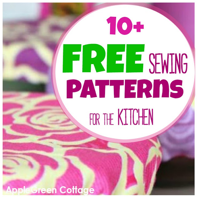 10+ Handy And Free Sewing Patterns for the Kitchen - AppleGreen Cottage