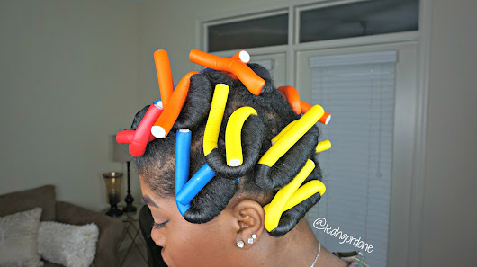 BIG CURLS WITH FLEXI ROD SET - Leah Gordone Natural Hair Blog!