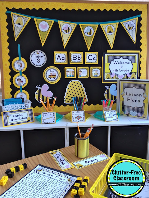 Classroom Ideas Printables ~ Bees themed classroom ideas printable