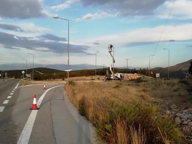 Ι. Μαλτέζος: Ολοκληρώθηκαν έργα ηλεκτροφωτισμού στους κόμβους των Διδύμων, Θερμησίας - Ερμιόνης - Ηλιοκάστρου