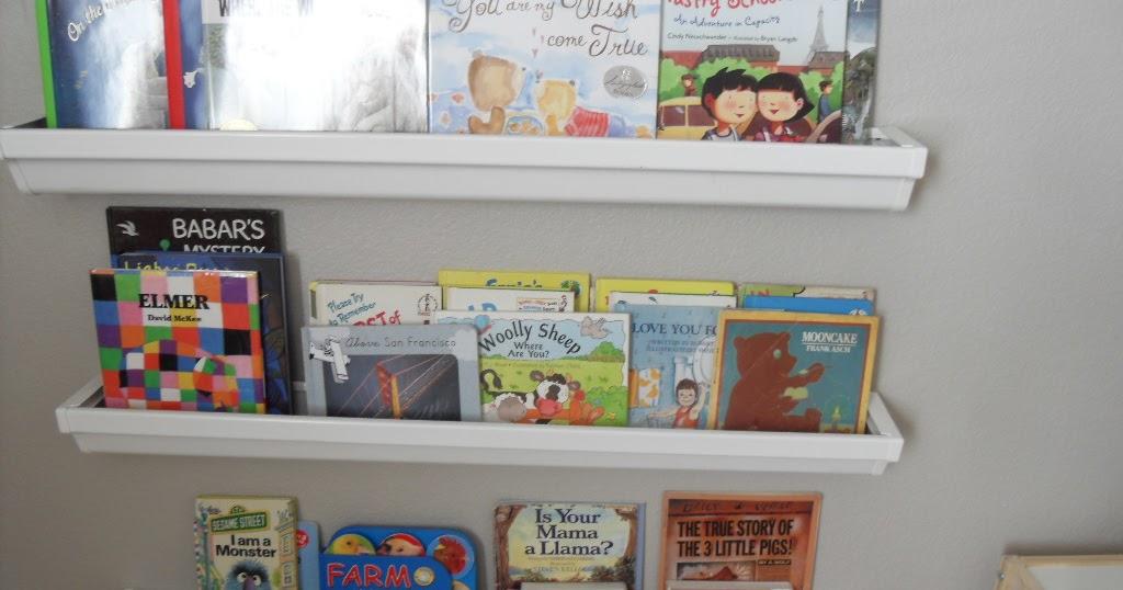 Swenson Style Rain Gutter Bookshelves