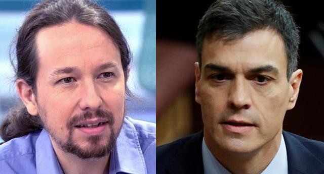 Pedro Sánchez y Pablo Iglesias comparecen juntos en el Congreso para anunciar un preacuerdo de Gobierno