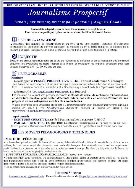 Formation Prospective pour Interprofession du Livre et de la Lecture
