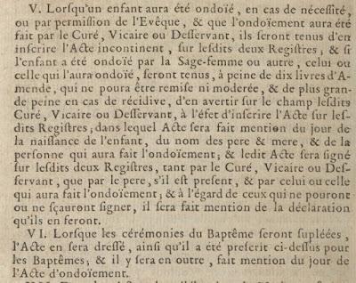 Ondoiement 1736