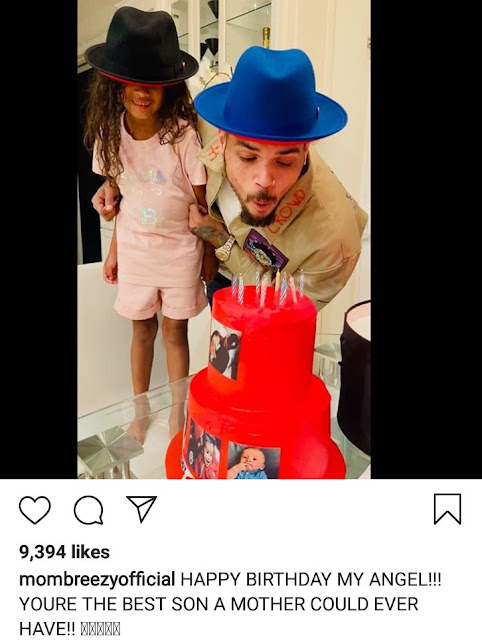 Chris Brown's daughter, Royalty Brown sings to him on his birthday in cute video